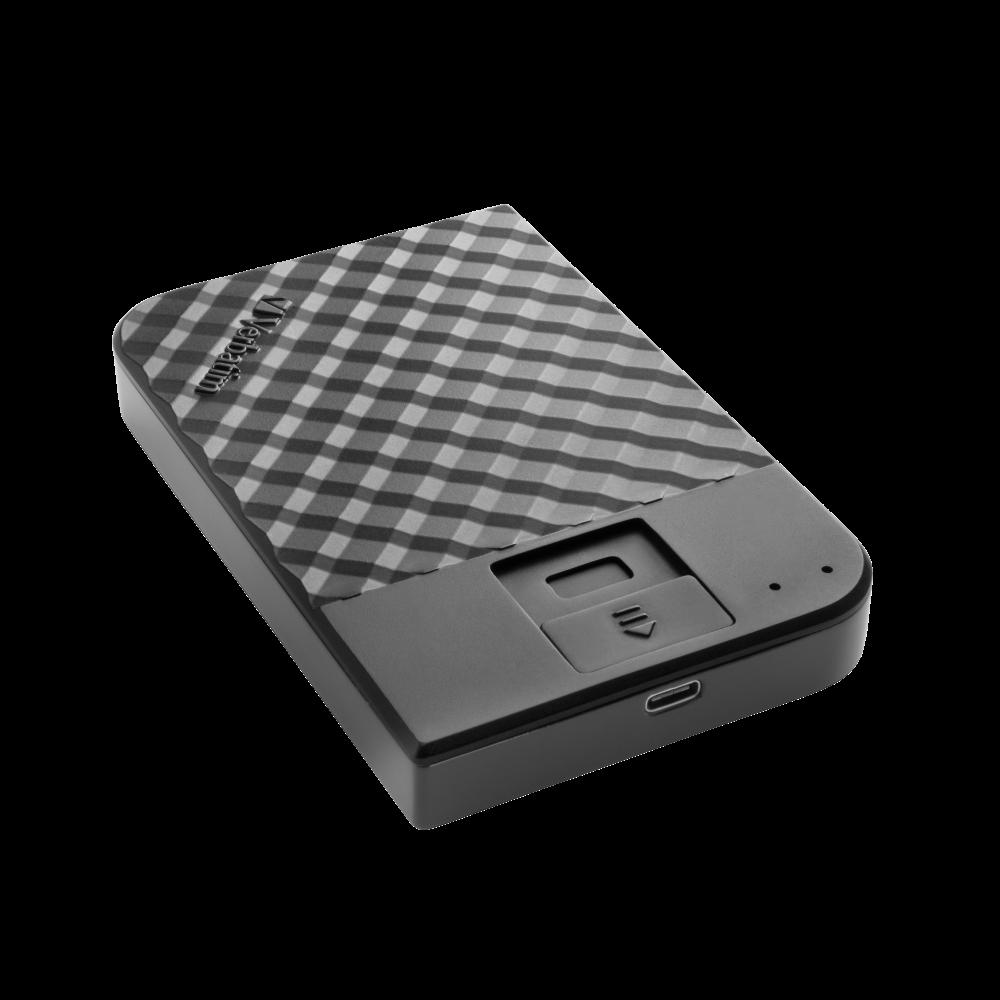 Переносной жесткий диск Fingerprint Secure емкостью 2 ТБ
