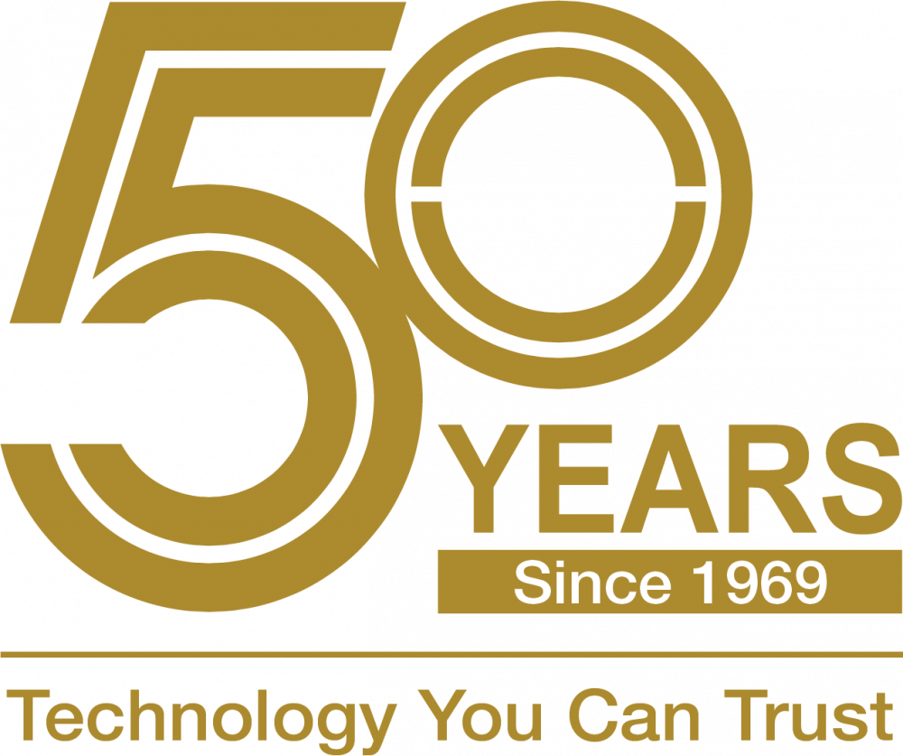 50years since 1969 logo