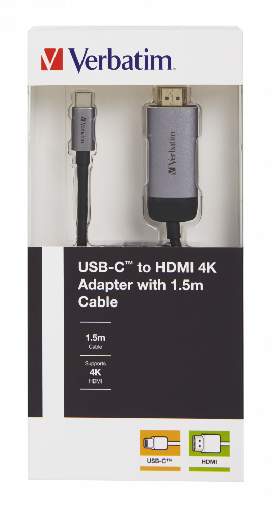 Verbatim USB-C™ to HDMI 4K Adapter with 1.5m cable