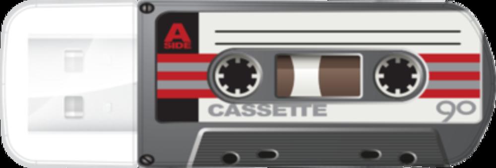 Мини-USB-накопитель Cassete Edition 64ГБ* - черный