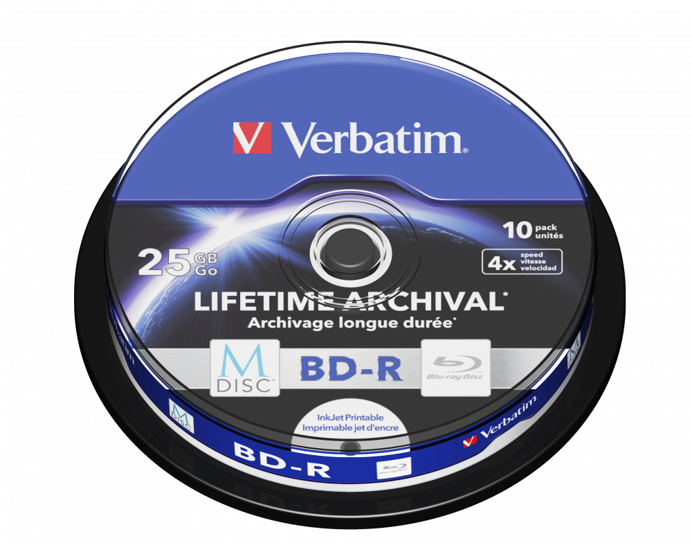 Verbatim MDISC Lifetime Archival BD-R - 10 Pack Spindle