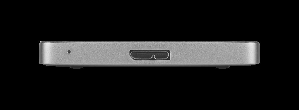 Тонкий переносной жесткий диск Store 'n' Go ALU емкостью 1 ТБ, серый