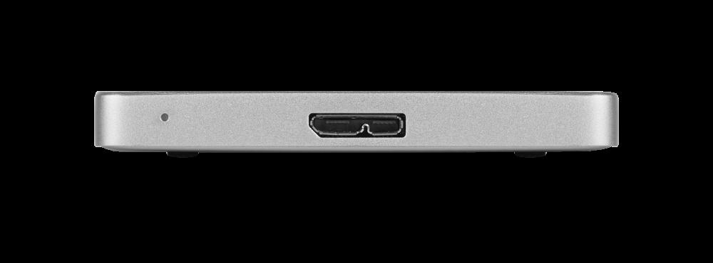 Disco rigido portatile Store 'n' Go ALU Slim da 2 TB Argento