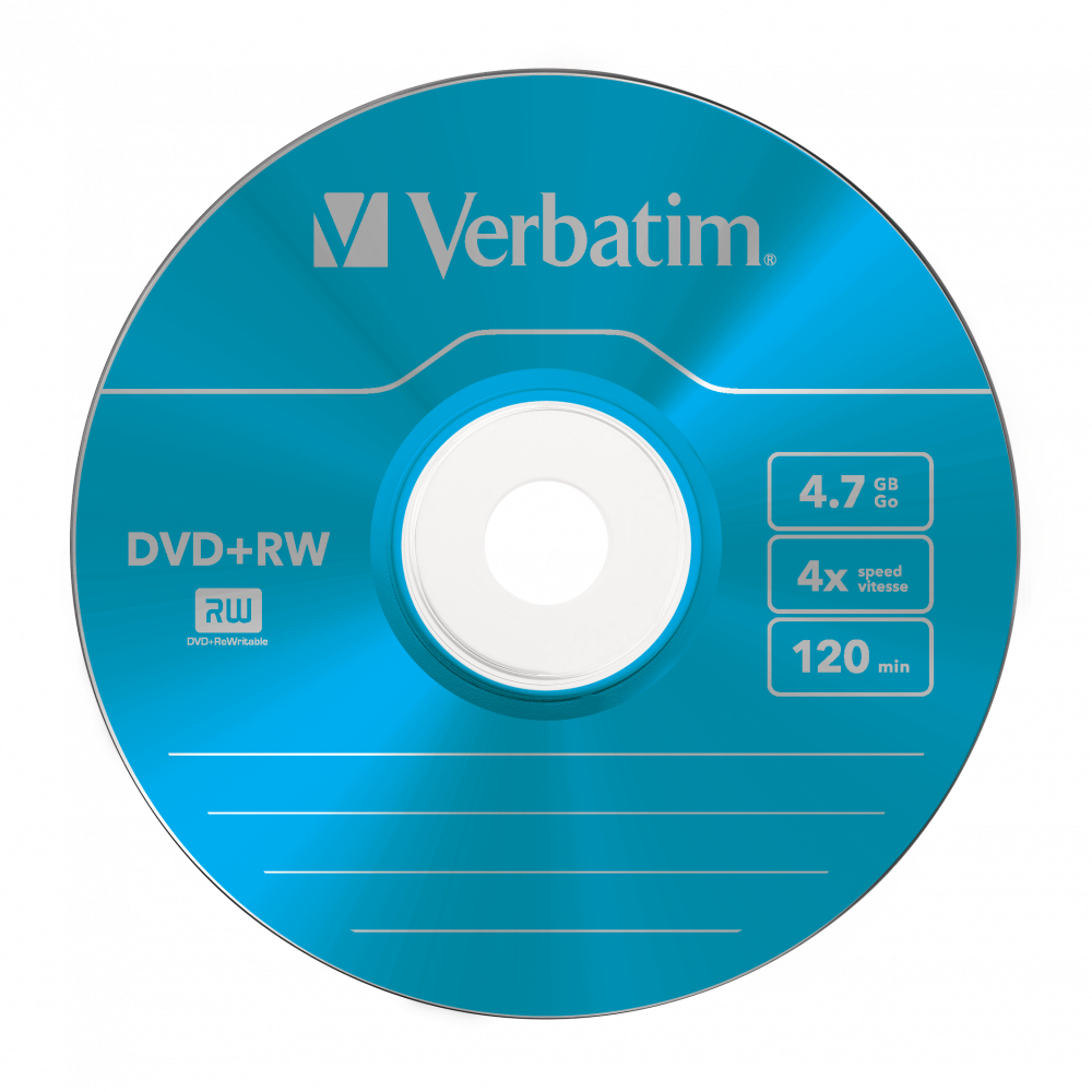 43297 DVD+RW Colour Global Disc Surface Blue