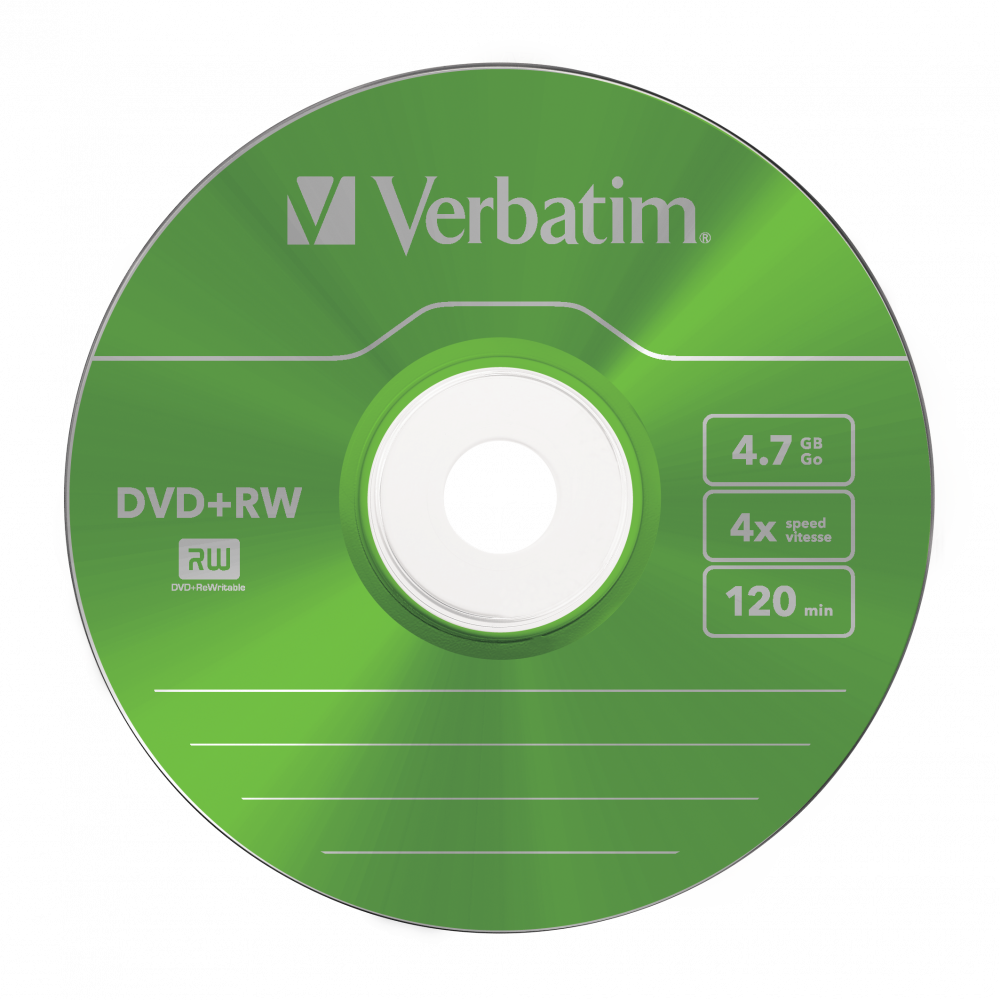 43297 DVD+RW Colour Global Disc Surface Green