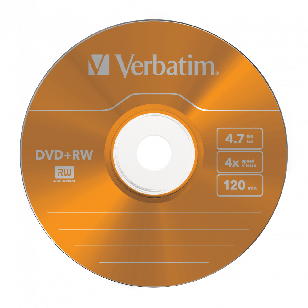 43297 DVD+RW Colour Global Disc Surface Orange