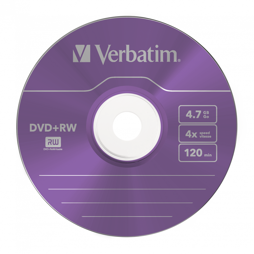 43297 DVD+RW Colour Global Disc Surface Purple