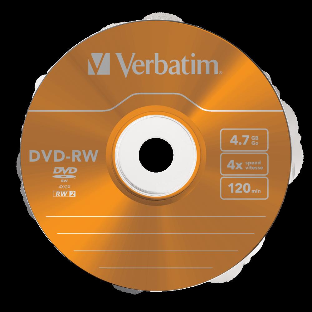 43563 DVD-RW Colour Global Disc Surface Orange