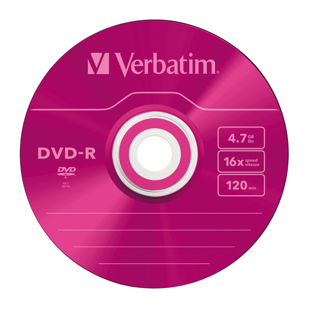 43557 DVD-R Colour Global Disc Surface Pink