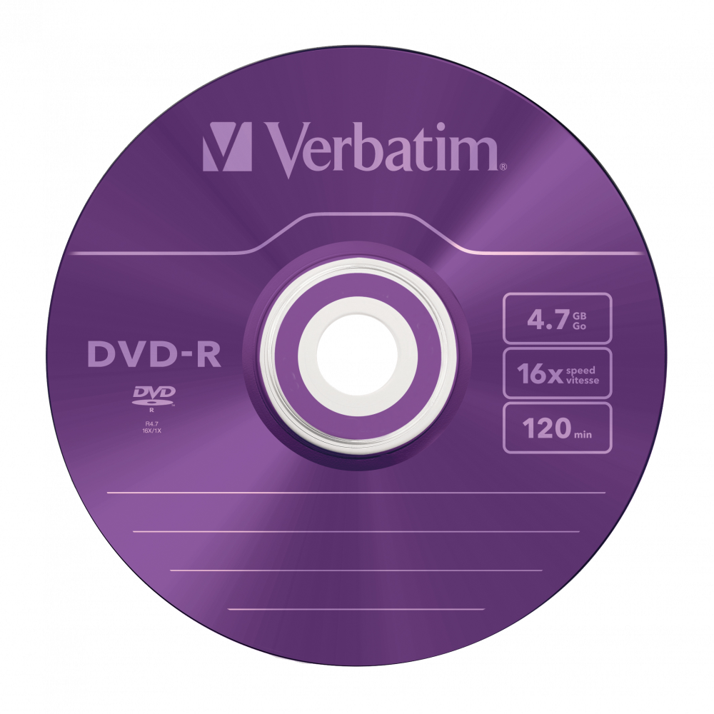 43557 DVD-R Colour Global Disc Surface Purple