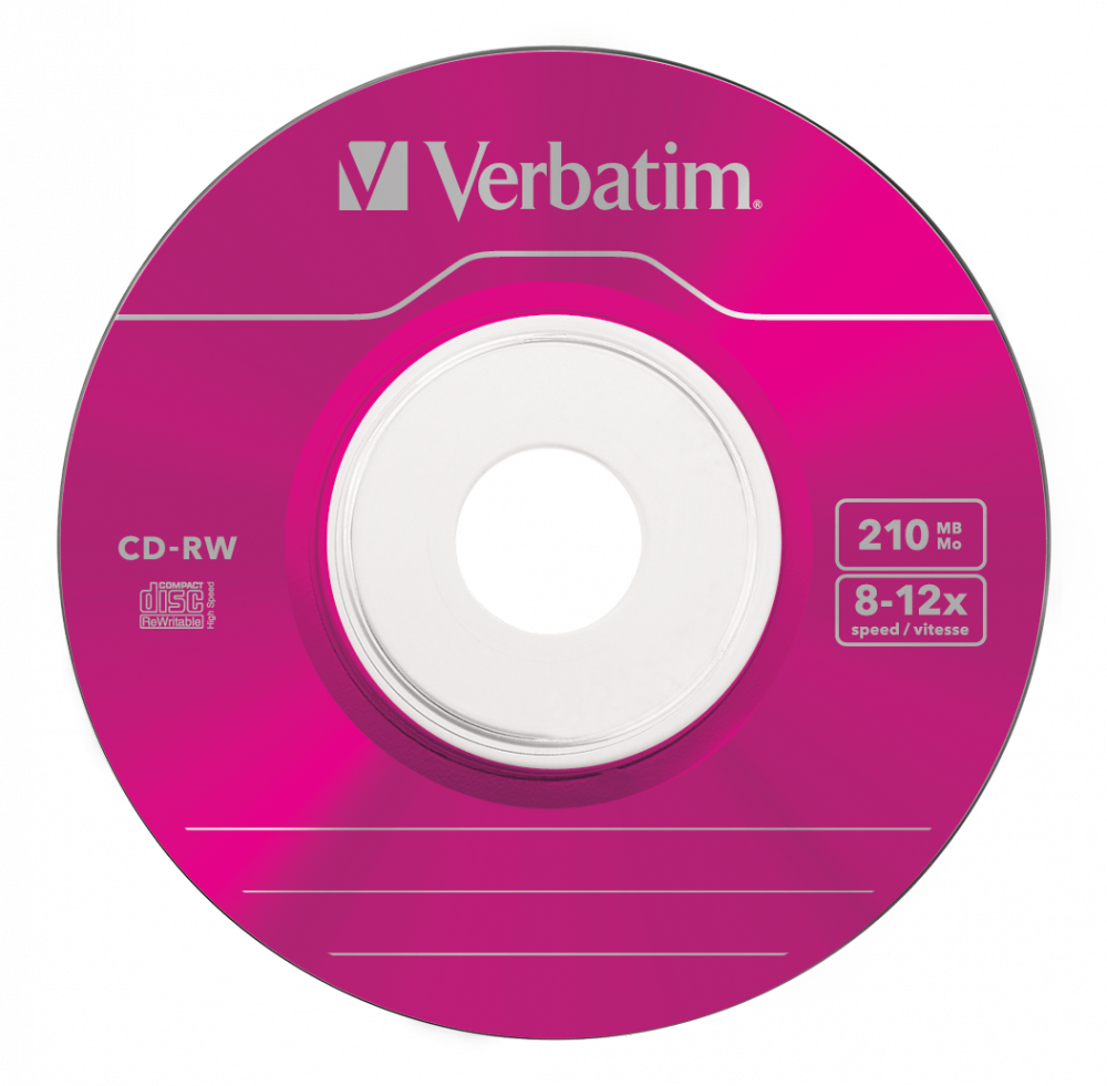 43555 CD-RW 8cm Colour Global Disc Surface Pink