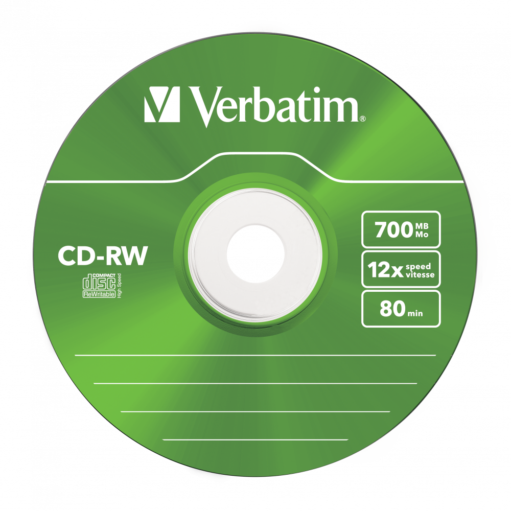 43167 CD-RW Colour Global Disc Surface Green
