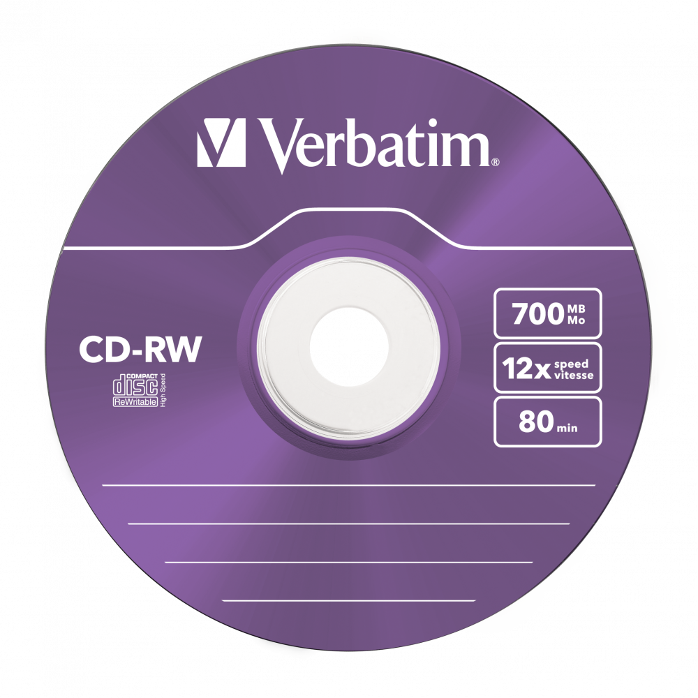 43167 CD-RW Colour Global Disc Surface Purple