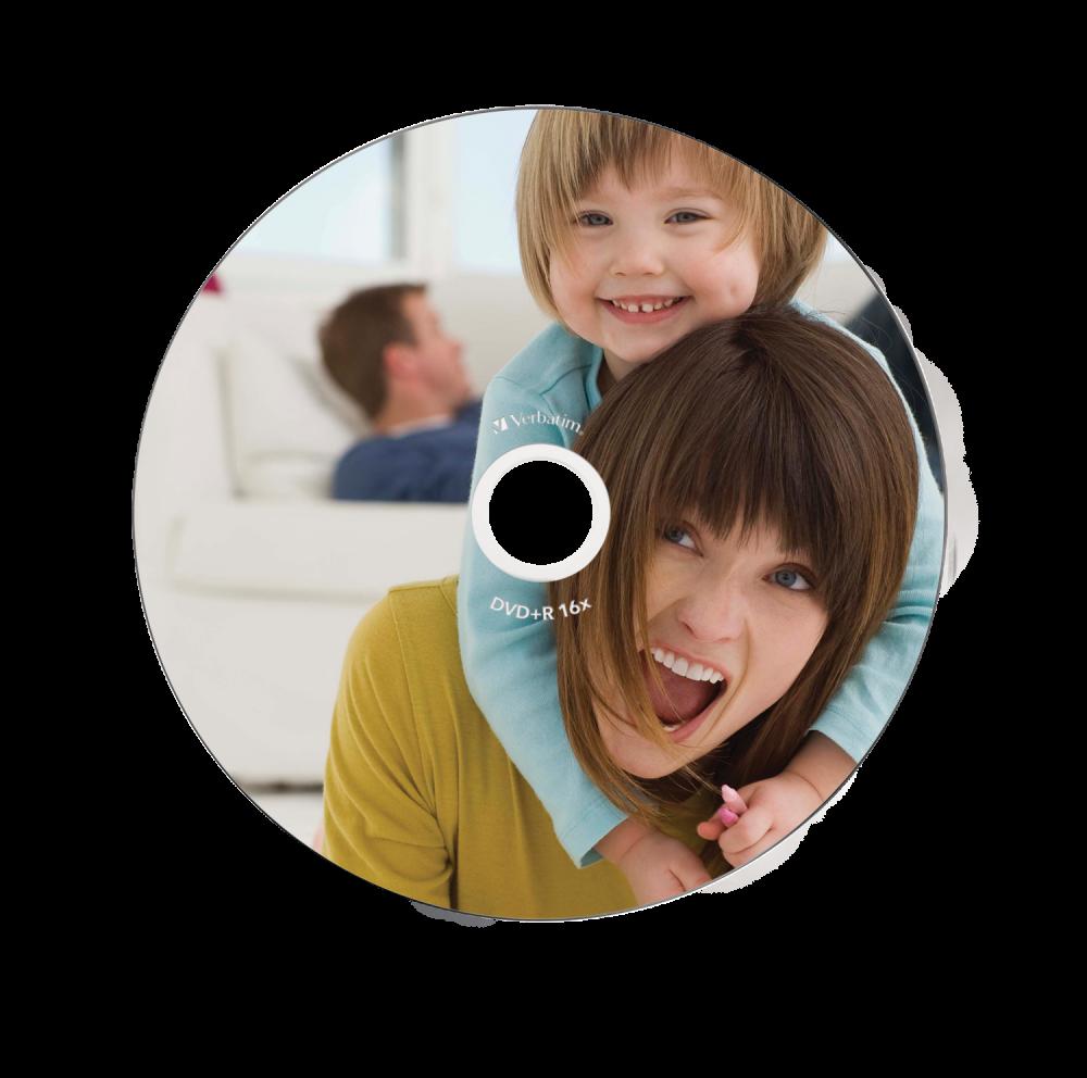 DVD+R Wide Inkjet Printable ID Branded