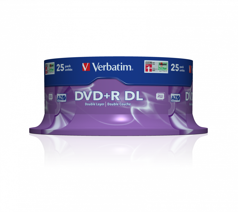 DVD+R Double Layer matzilver