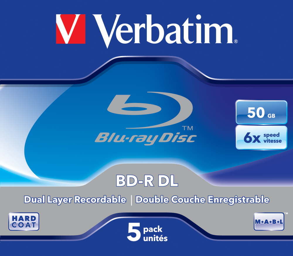 BD-R DL 50GB* 6x 5 Pack Jewel Case