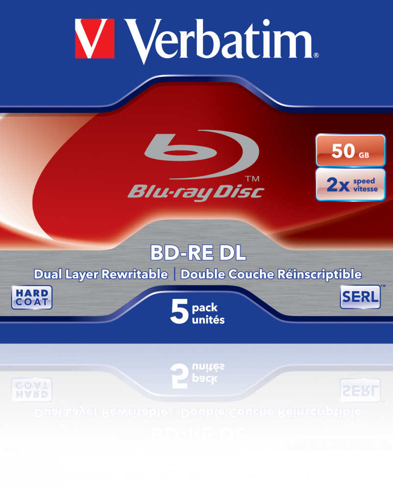 BD-RE DL 50GB* 2x 5 Pack Jewel Case