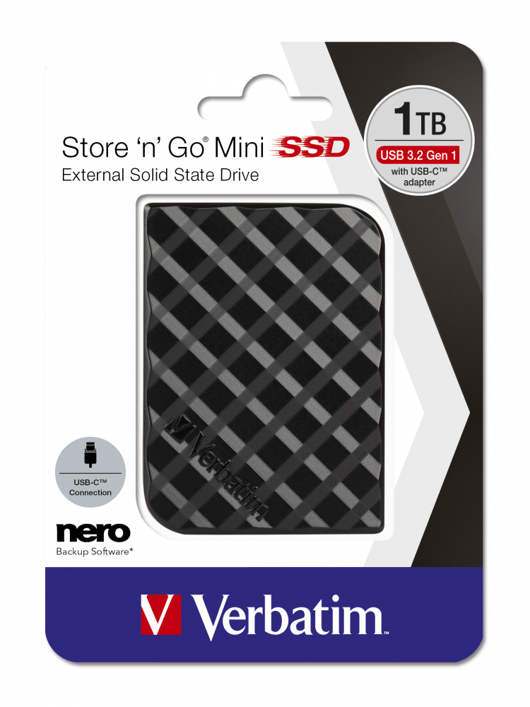 Store 'n' Go Mini SSD USB 3.2 GEN 1 1TB Sort