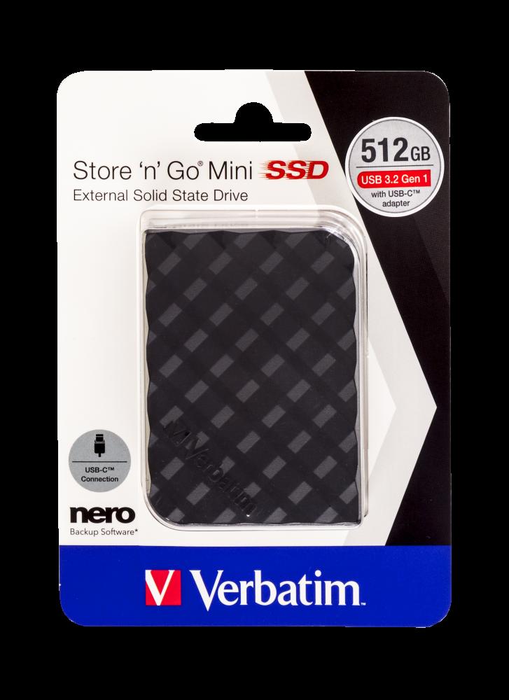 Store 'n' Go Mini SSD USB 3.2 GEN 1 512 GB* Svart