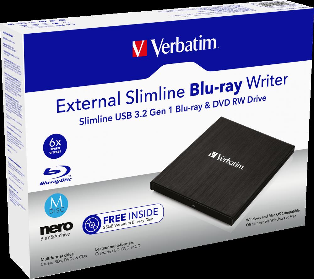 External Slimline Blu-ray Writer