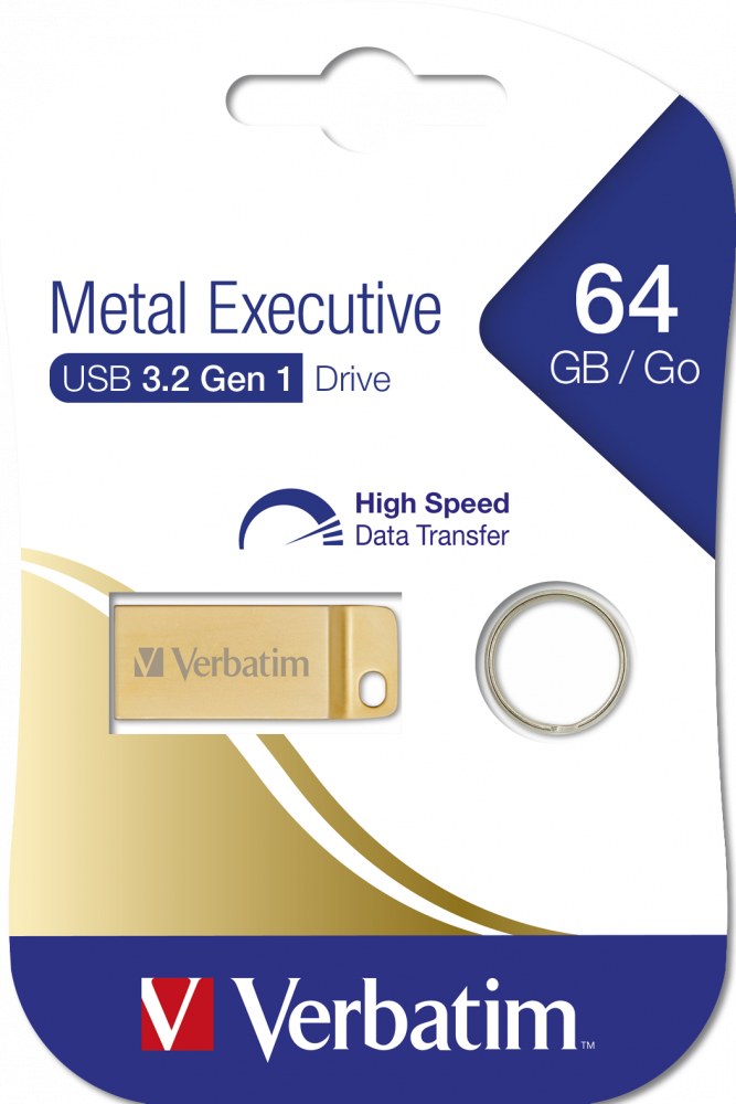 Executive USB 3.2 Gen 1-Laufwerk aus Metall 64GB*