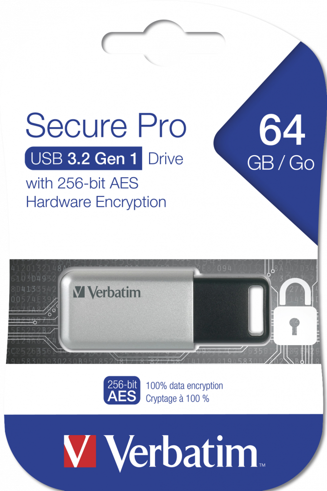 Secure Pro USB-Stick, USB 3.2 Gen 1, 64 GB
