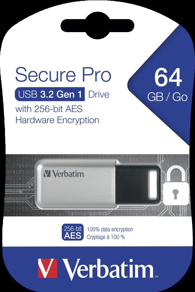 USB-накопитель Secure Pro, USB�3.2 Gen 1, 64�ГБ*
