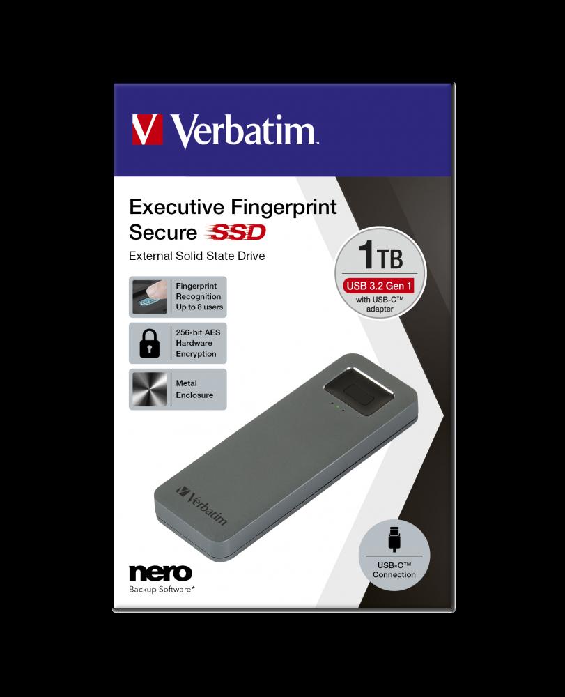 Disco SSD Executive Fingerprint Secure USB 3.2 Gen 1 / USB-C 1TB