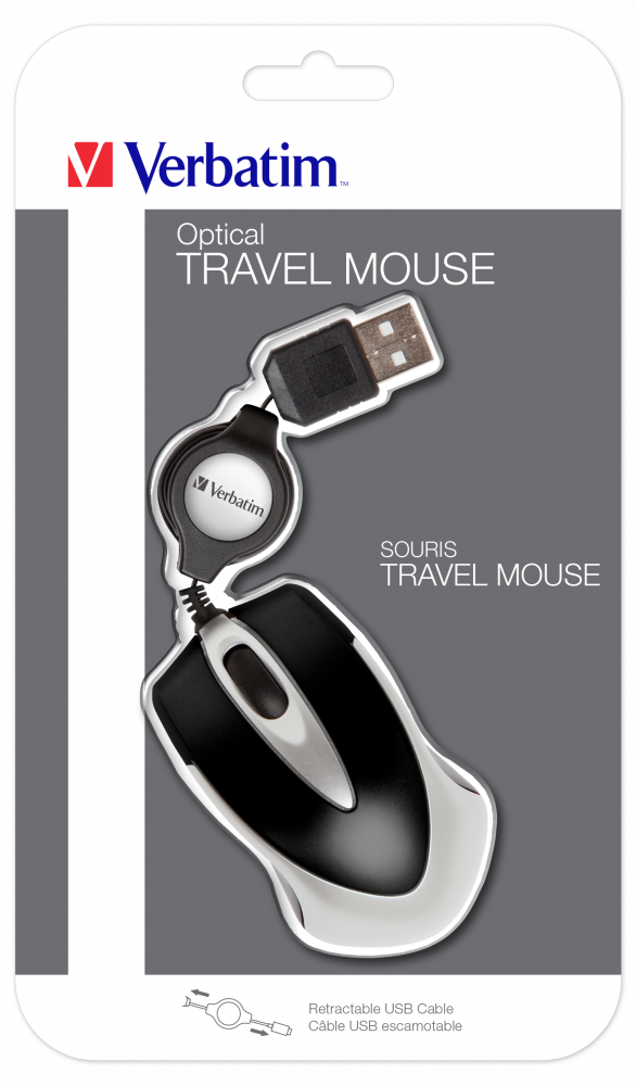 Go Mini Optical Travel Mouse – Schwarz