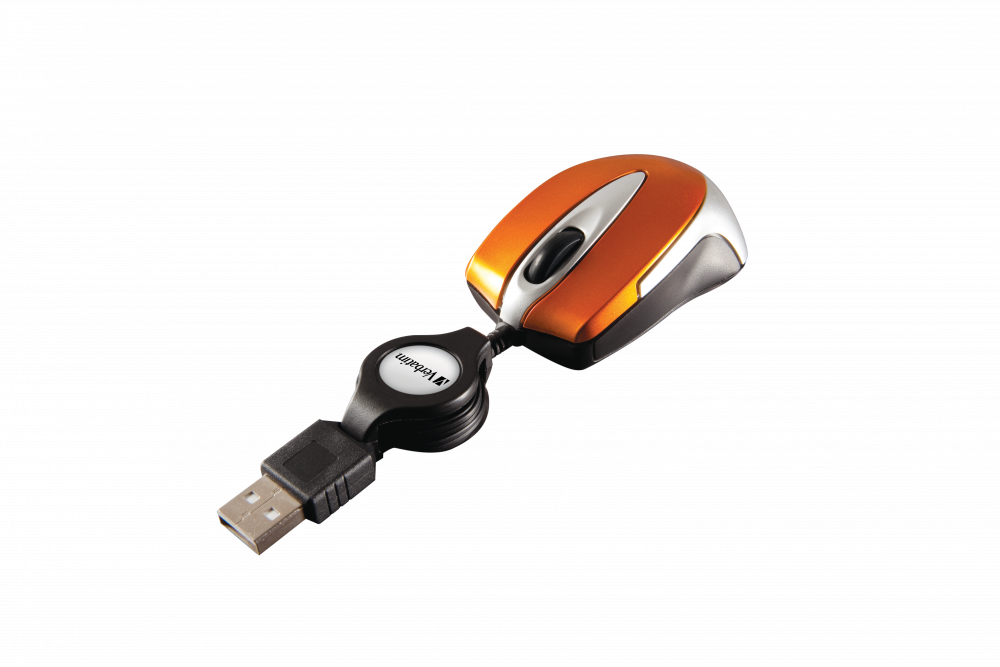Go Mini Optical Travel Mouse – Volcanic Orange