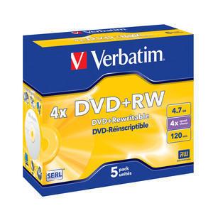DVD+RW 4x Matt Silver