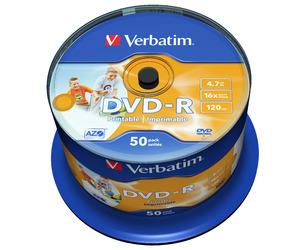 DVD‑R 16x Wide Inkjet Printable
