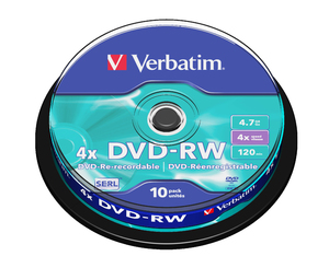 DVD‑RW 4x Matt Silver