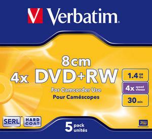 DVD+RW 8cm 4x Matt Silver