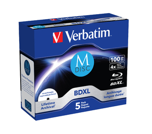 Verbatim MDISC Lifetime archival BDXL 100GB - 5 en caja Jewel