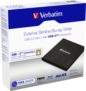 External Slimline USB‑C Blu‑ray Writer