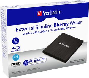 Verbatim External Slimline USB 3.0 Blu‑ray Yazıcı