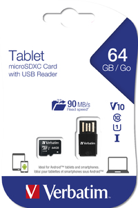 Tablet U1 microSDHC / SDXC Cards with USB Reader