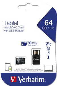 Surfplatta U1 microSDHC/SDXC‑kort med USB‑läsare