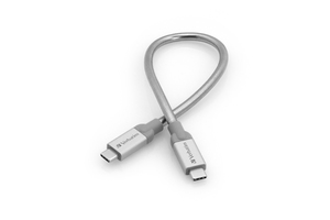 Cable de carga y sincronización de acero inoxidable de USB‑C a USB‑C